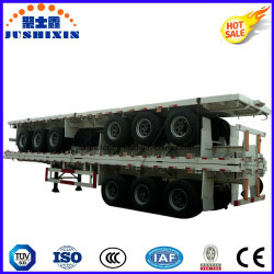 3 Fuwa Axles Flatbed Truck Trailer Semi Trailer Container Trailer Spmt Price