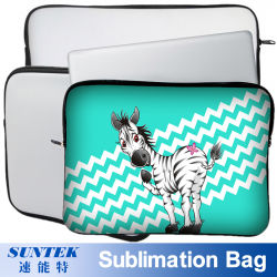 White Neoprene Sublimation Blank Laptop Notebook Sleeve Bag