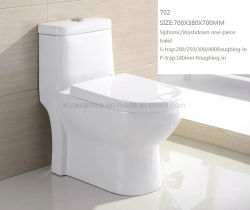 Sanitary Ware Siphonic Washdown Ceramic One Piece Toilet 702