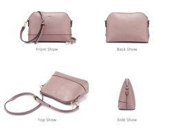 2PCS Set Lady PU Handbag Tote Crossbody Bag Daily Work Bag (WDL0952)