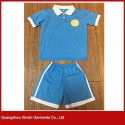 Custom Design 100% Cotton Pique School Wear Polo Shirts for Sports (U25)