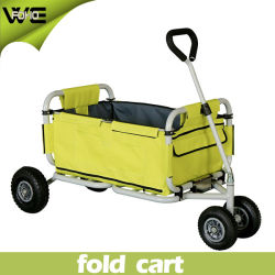 folding beach wagon utility luggage shopping garden cart - Garden Utility Cart