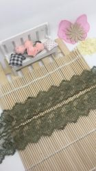 Factory Stock Wholesale 4cm Width Embroidery Organza Lace Net Mesh Lace for Garments/ Home Textiles/ Dress & Socks Decoration Trimming Lace Accessories