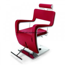 High Quality Red Salon Barber Chair With T Footrest Styling Chair