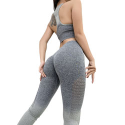 Aibort Seamless Leggings Bra Set Women Sports Yoga Wear Set