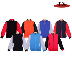 100% Cotton Sports Wear Sweater Clothing for Fleece Fabric Hooded Woolen Varsity Jackets with OEM Service
