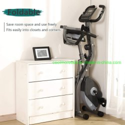 Exercise Bike 10 Levels of Adjustable Magnetic Resistance, Foldable and Quiet, with Arm Resistance Band, LCD Screen, Used for Home Aerobic Training Bicycle