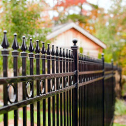 Garden Wrought Iron Fence With High Hardness