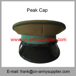 c65df519b78 Wholesale Cheap China Military Golden Officer Army Police Peak Cap