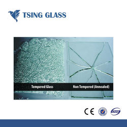 Toughened Glass for Swimming Pool Fence / Staris / Balustrade / Door / Table Top / Furniture
