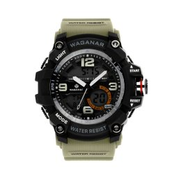 Watches Men Fashionable LED Sport Watch Stainless Steel Back Digital Watches for Gift (JY-SI030)