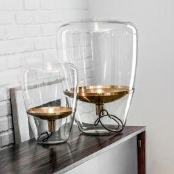 Transparent Glass Lampshade Mini Table Lamp Restaurant Lamp Romantic Lamp