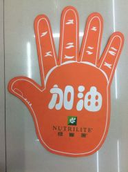 Colorful Cheering Hand Hotsale Promotion Cheerful EVA Hands