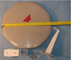 Wholesale Chinasat9 26cm Ku Band Digital Ready Flat TV Satellite Antenna