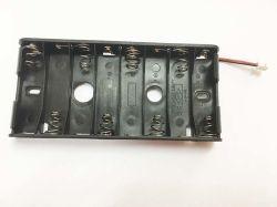Black Side by Side 8AA Battery Holder for Smart Lock