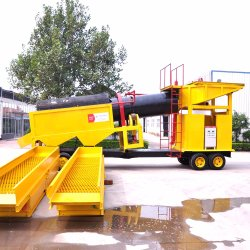 100tph Alluvial Gold Trommel Screen Cheap Sluice Box Machine Extraction and Purification of Gold