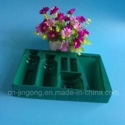 Dark Green Pet Cosmestic Insert Tray Plastic Tray
