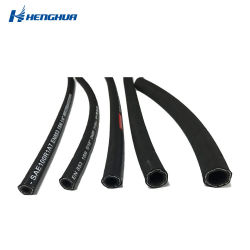 Top Factory Super Long Service Life Steel Wire Braided Industrial High Pressure Hydraulic Rubber Hose / Water Suction Hose Pressure Washer Oil Air Flexible Hose