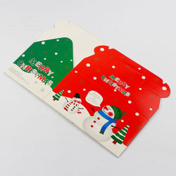 High Quality Christmas Paper Box Packing Custom Colorful Gift Box Red Packet