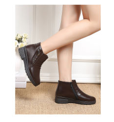 Wholesale High Quality Fashion Bright PU Leather Flat Ladies Shoes