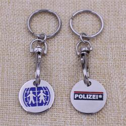 Custom Cheapest Keychain Metal Europe Token Nickel Free Trolly Coin