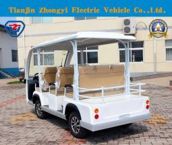 Zycar Wholesale 8 Passengers off Road Battery Powered Classic Shuttle Sightseeing Electric Mini Car for Resort