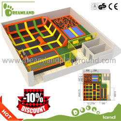 Popular Interesting Family Sports Trampoline Amusement Park with Safety
