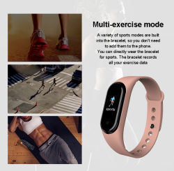 M5 Bt Call Smartwatch Sport Fitness Watch Smart Band Long Time Standby Smart Watch for Xiaomi