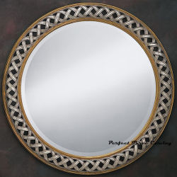 Wood Carved Interwoven Mirror & Oil Painting Frame Mfrd-15