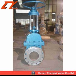 Compound Sealing Manual Pneumatic/Electric Throttle Ceramic Knife Gate Valve
