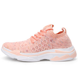 2018 Manufacturer Flyknit Sneaker Shoes for Women, China Factory Sport Shoes for Man