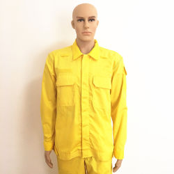 Home Textile Flame Fire Retardant Dye Oilproof Workwear with Snap