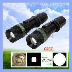 T6061 Aluminum Alloy Black CREE T6 LED 5W Adjustable Brightness LED Flashlight