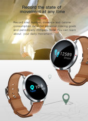 Factory Outlet New Design Round Color Screen Sports Fitness Waterproof Smart Watch with Heart Rate/Sleep Monitoring/Pedometer/Sedentary Reminder/Blood Pressure