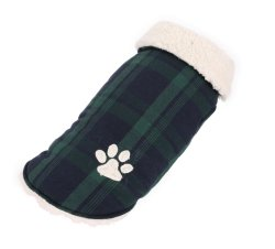 Proper Price Breathable and Durable Plaid Pet Dog Coats with Paw Pattern