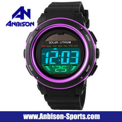 Solar Power Fashion Young People Digital LED Sports Watch