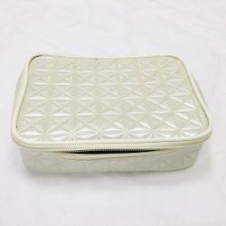 Diamond PU Leather Zipper Open Cosmetic Case (C532)