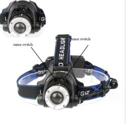 Outdoor Strong Linght T6 Head Lamp /Free Rotating Focus LED Headlamp