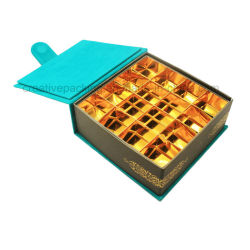 Wholesale Faux Suede Wrapped Paper Chocolate Packaging Box