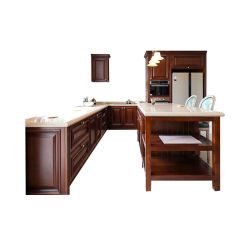 Professional American Standard Solid Cherry Wood Kitchen Cabinet