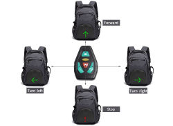 China Factory LED Lighg Ride Backpack Outdoor Sport Motorcycle LED Warning Light Backpack Bag (RS-7007)