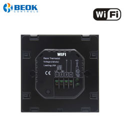 Electric Heating Room Thermostat with Large Touch Screen Smart WiFi Thermostat