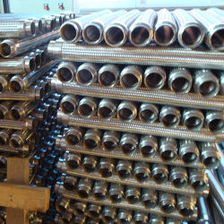 Corrugated Wire Braiding Flexible Metal Hose with Flange
