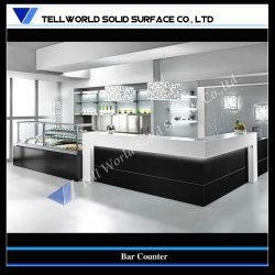 Customized Artificial Stone Modern Home Bar Counter Design (TW 071)