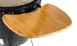 24 Inch P Type XL Size Ceramic Kamado Grill with Cast Iron Cart Frame and Caster