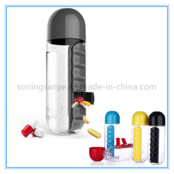 Dto0043 Weekly Water Bottle with Medicine Pill Box