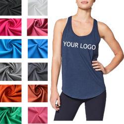 e207c3c8c9cc1 Bulk Wholesale High Quality Fitness Printing Plain Round Bottom Women Tank  Top with Your Logo