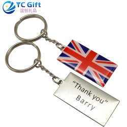 Wholesale Custom Metal Art Crafts Laser Engraving Key Ring Fashion Decoration Key Holder Tag Floating Promotional Gift Cool Watch Logo Key Chains for Souvenir