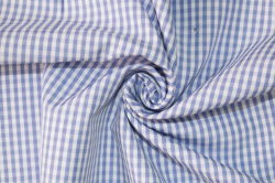 3mm Checks Polyester Cotton Textile Yarn Dyed Uniform Shirt Fabric