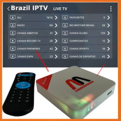 Free Brazil IPTV Box with Movies Live TV Sports Model E8 Plus S905X 2+16GB Supported 4K*2K Video H. 265 Same The Btv Htv